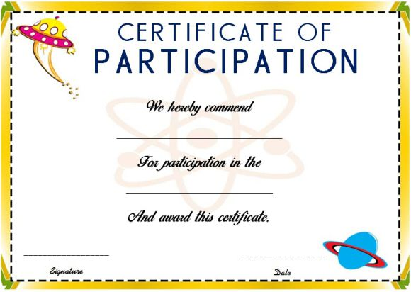 Certificate Of Participation Template Free Science Fair Participation Certificate 11 Free Editable Awards In Word Demplates