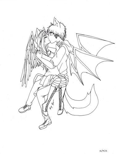 Vampire Love Drawing