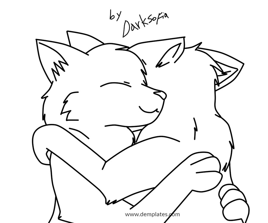 Wolf Love Drawing - 1_1
