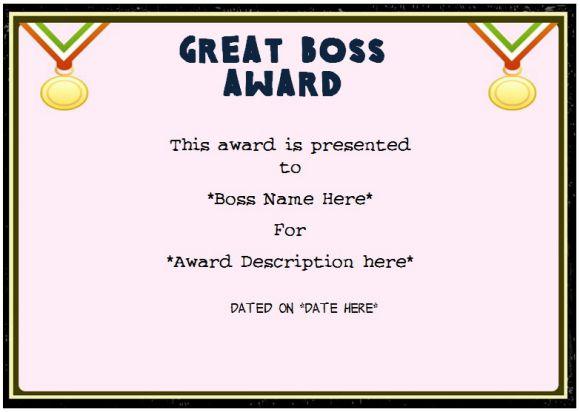 best boss award certificate koni polycode co