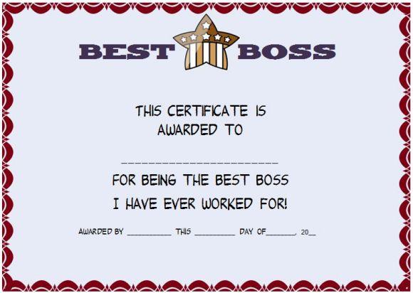 best boss award certificate juve cenitdelacabrera co