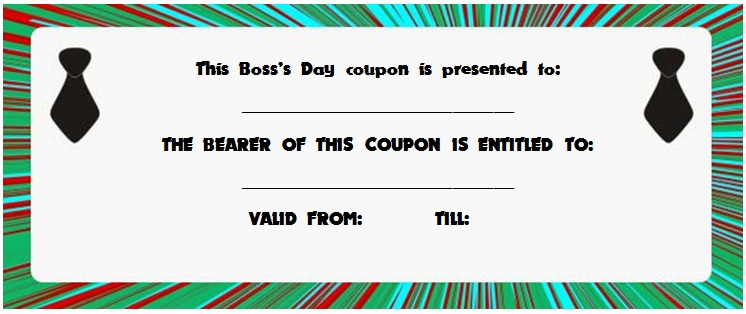 Boss's Day Gift certificate