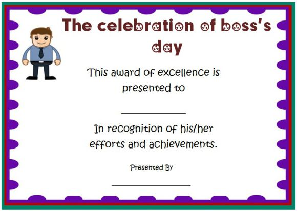 Boss Day Certificate Of Appreciation 10 Templates To