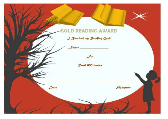 photo about Free Printable Reading Certificates known as 33 Absolutely free Printable Reading through Awards for Pupils Young children