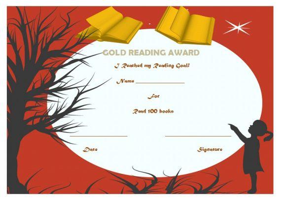 Gold reading award