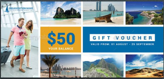 holiday and vacation gift certificate