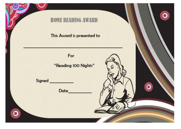 Home reading award