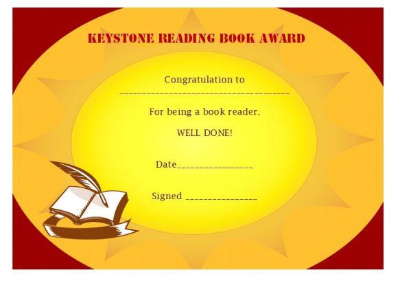 Keystone to reading book award