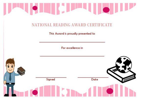 National reading award