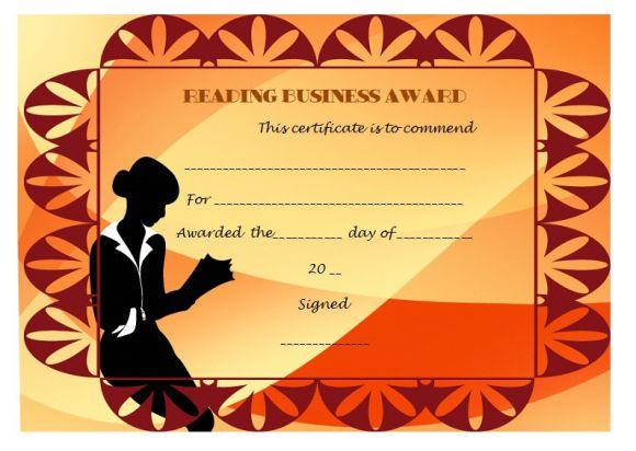 Reading business award