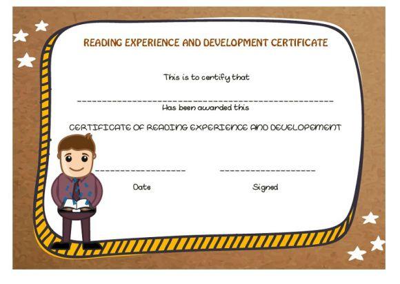 Reading experience and development award