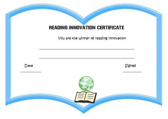 Reading innovation award