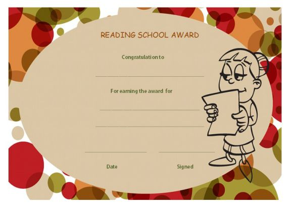 Reading school award