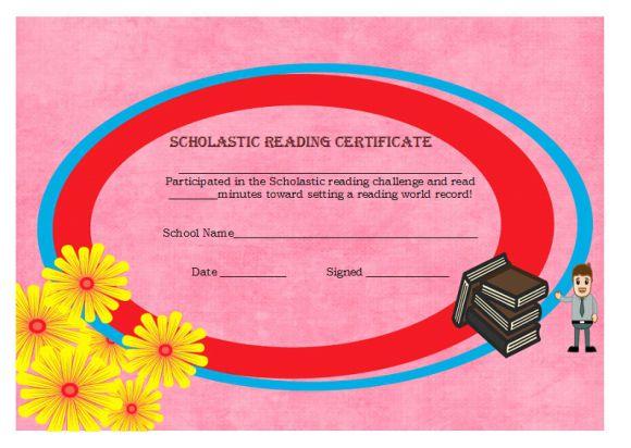 Scholastic reading award