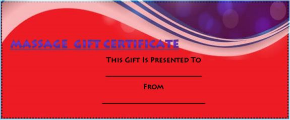 Funny massage gift certificate template