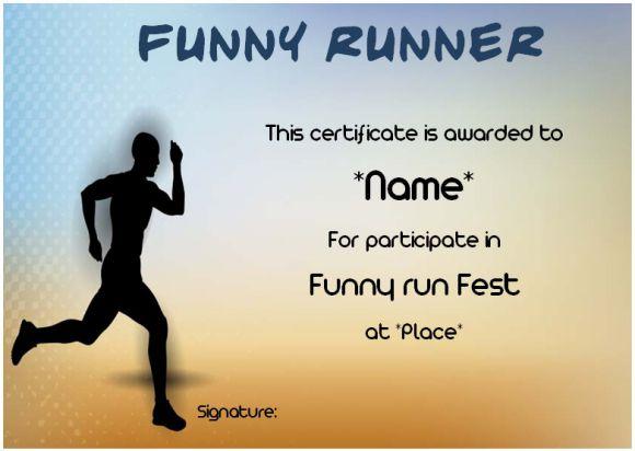 Funny runner award