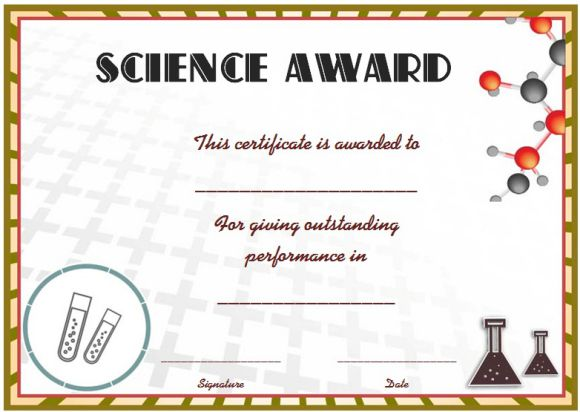 Science Award Certificate Template Zrom