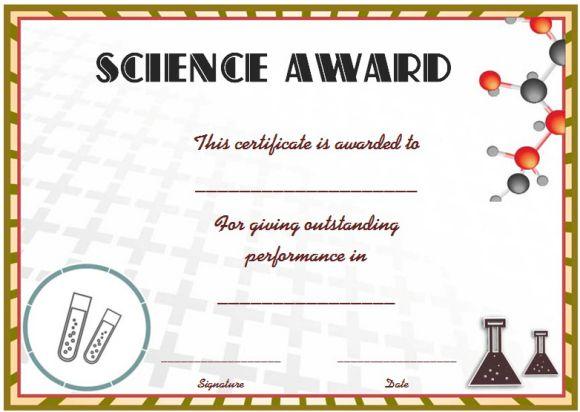 Science Fair Certificates 14 Printable Full Color Certificates
