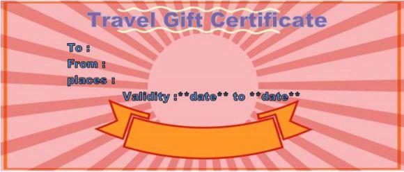 Travel agency voucher template