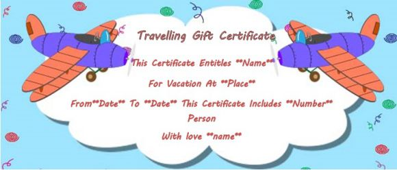 vacation gift certificate template 34 word psd files
