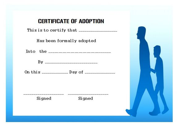 Adoption certificate uk