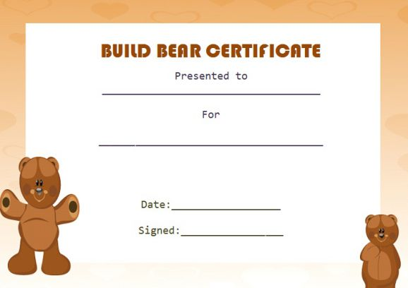 Build bear template