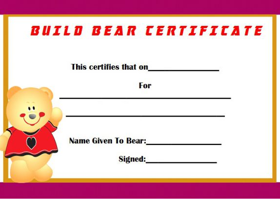 Build certificate for bear
