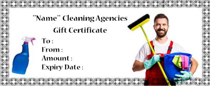 House cleaning gift certificate template 10 free personalized house cleaning gift certificate template 10 free personalized certificate templates yelopaper Image collections