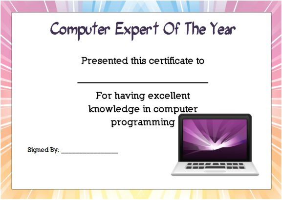 Computer Expert student of the year award