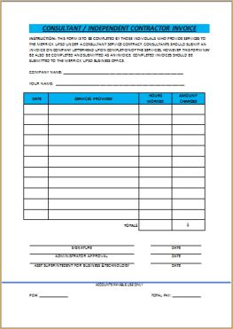 General Contractor Invoice