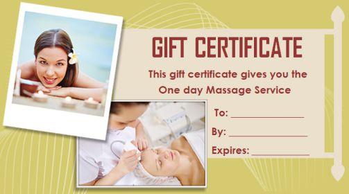 Gift Certificate massage