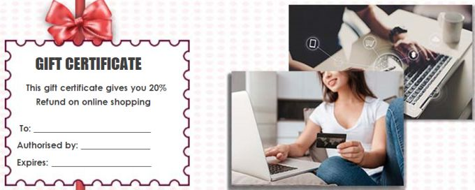 Gift Certificate shopping