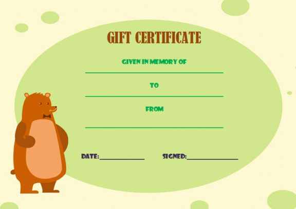 Gift certificate build bear