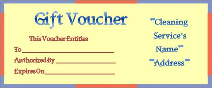 Cleaning Gift Certificate Template Onweoinnovate