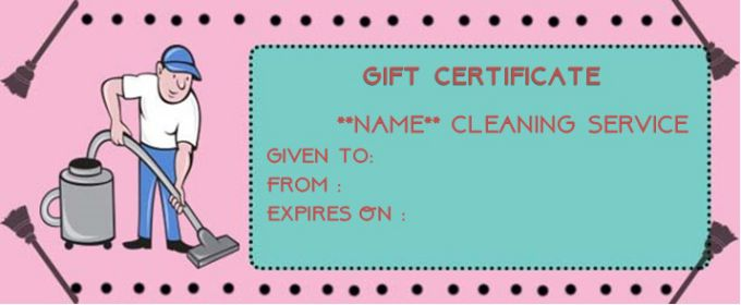 Maid service gift card