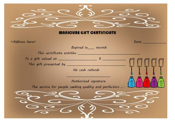 Manicure Gift Certificate