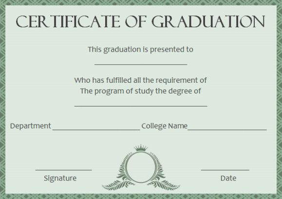 degree certificates templates