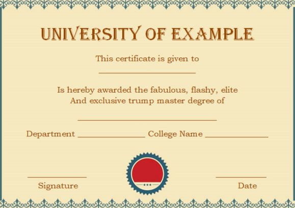 Masters degree certificates