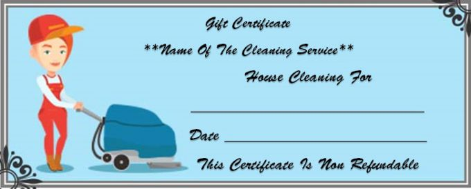 house cleaning gift certificate template 10 free