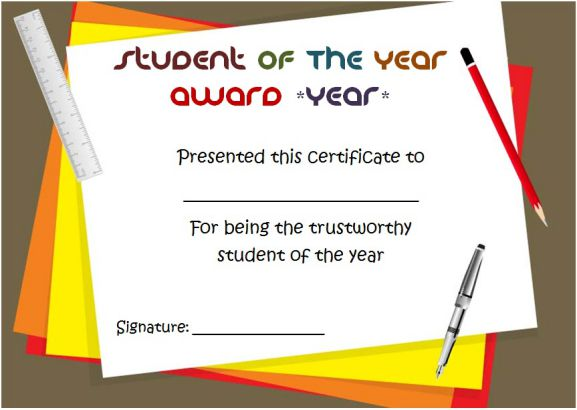 Most Trustworthy student of the year award