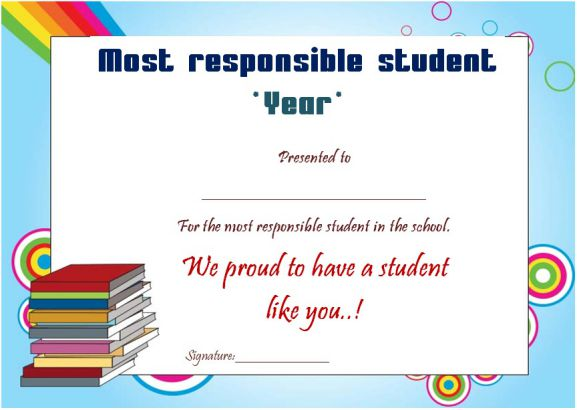 Most responsible student of the year award
