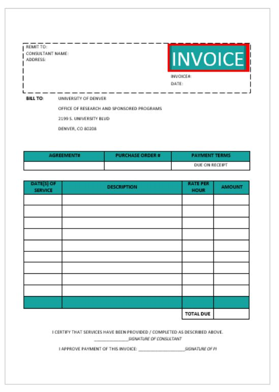 Consulting Invoice Template: 20+ Templates for Consultants and ...