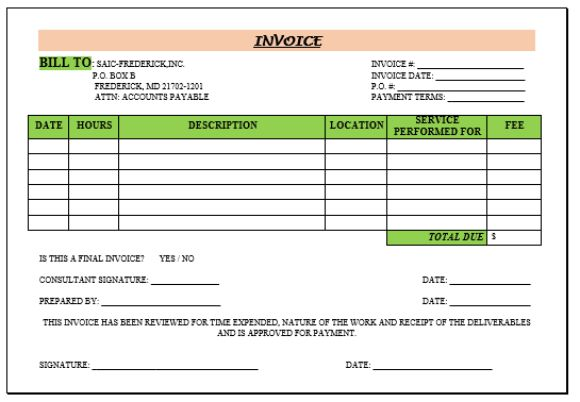 Consulting Invoice Template 20 Templates For Consultants And