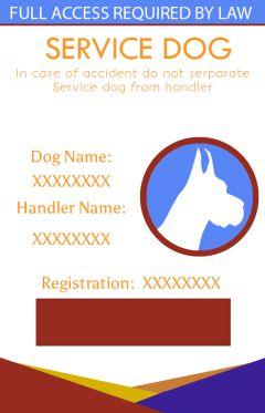 Service Dog Ids Cards