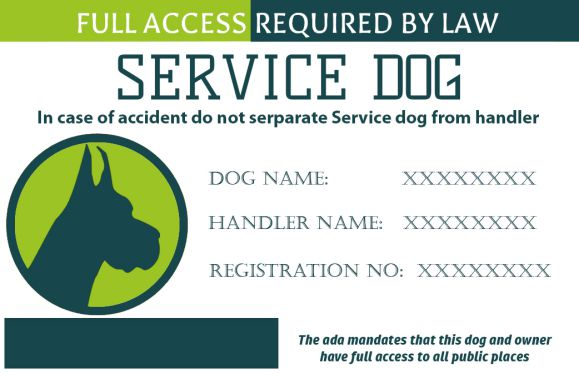 Service Dogs Id Card