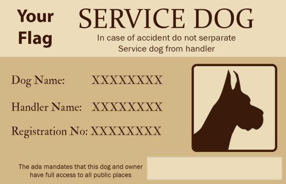 Services Dog Id Card