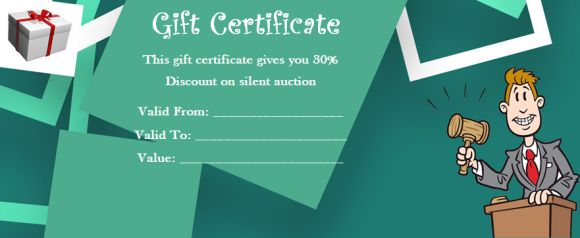 SilentAuction Gift Certificates