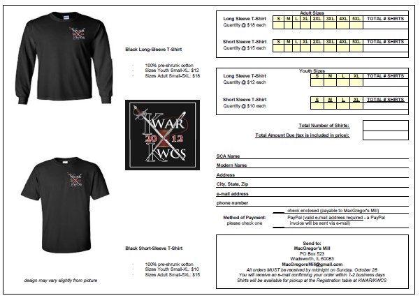 T Shirt Order Forms 50 Customized Form Templates