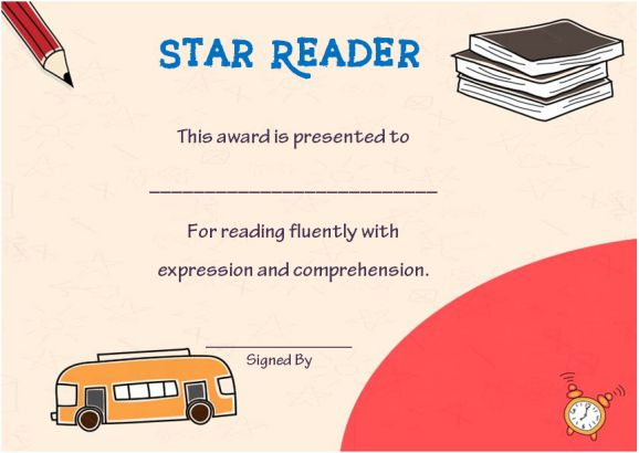 Star reader student of the year award
