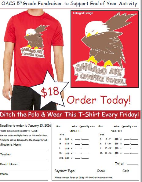 T-Shirt Fundraiser Order Form Template